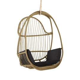 Home4you Jussi Swing Chair Beige/Black