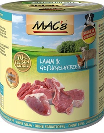 Mac's Lamb & Chicken Hearts 800g