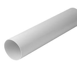 VENTILATSIOONITORU 125MM 1M VALGE PLAST