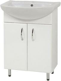 Шкаф для ванной Sanservis SL-56 with Basin White 56.5x80x44.5cm