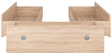 Black Red White Nepo LOZ3S Set Of Bed Drawers Sanoma Oak