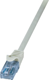 LogiLink Patch Cable Cat.6A 10GE Home U/UTP EconLine 0.25m Grey