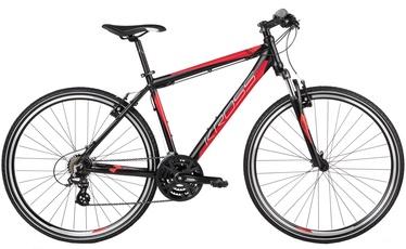 "Jalgratas Kross Evado 1.0 L 28"" Black Red Matte 17"