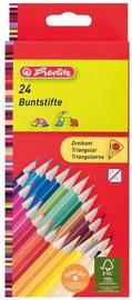 Herlitz Triangular Coloured Pencils 24pcs 10412039