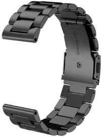 Tellur Metallic Watch Strap For Samsung Gear S3/Watch 46mm-22mm Black