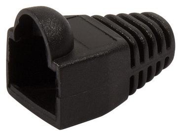 LogiLink Strain Relief Hoods For Modular Plugs x 100 Black