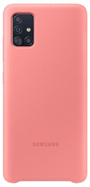Samsung Silicone Back Case For Samsung Galaxy A51 Pink