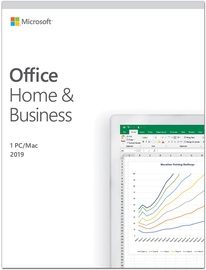 Microsoft Office Home and Business 2019 Retail Latvian License Medialess