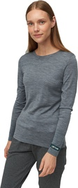 Audimas Fine Merino Wool Long Sleeve Top Mid Grey XXL