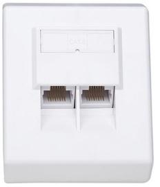 Intellinet Surface Mount Box Cat 6 RJ45 x2 UTP White