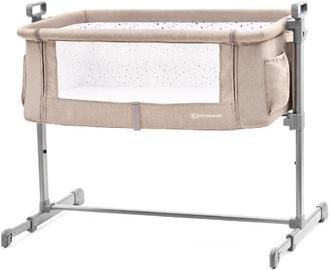 KinderKraft Neste Up Bedside Crib Beige Melange