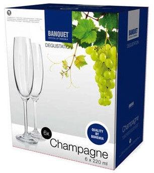 Banquet Degustation Champagne 220ml 6pcs