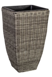 Home4you Flowerpot Wicker 30x30x51cm Grey
