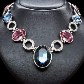 Diamond Sky Necklace Charming Glitter With Swarovski Crystals