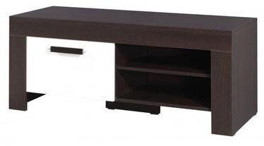 ТВ стол Jurek Meble Cezar Reg15 Dark Brown/White, 1200x520x510 мм