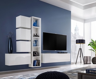 ASM Blox III Living Room Wall Unit Set White