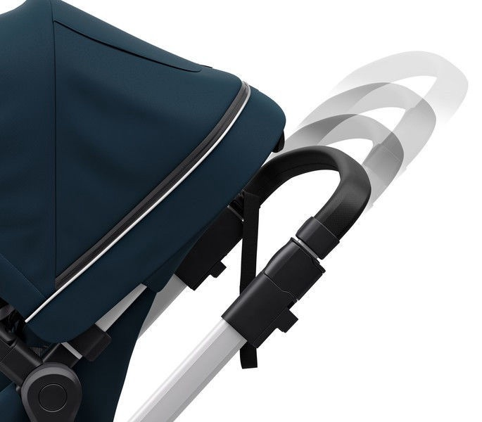 Thule Sleek with Bassinet and Main Seat Navy Blue