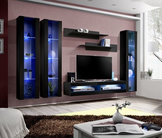 ASM Fly P7 Living Room Wall Unit Set Black