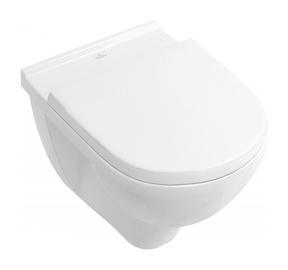 Seinapealne WC-pott Villeroy & Boch O.Novo 5660HR01, kaanega, 360x560 mm