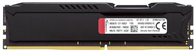 Kingston 16GB PC21300 DDR4/KIT4 HyperX Fury HX426C15FBK4/16