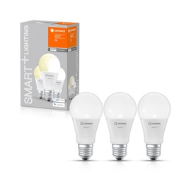 Nutipirn Ledvance LED, E27, A60, 9 W, 806 lm, 2700 °K, soe valge, 3 tk