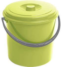 Curver Bucket With Grey Lid 10L Green