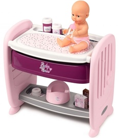 Smoby Baby Nurse Doll With Crib 2in1
