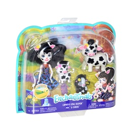 Nukk Mattel Enchantimals Cambrie Cow Doll With Ricotta Family