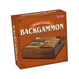 Tactic Wooden Classic Backgammon 14026
