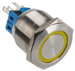 DimasTech Switch Push Button 25mm Silverline Yellow