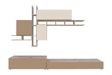 ASM Napoli Living Room Wall Unit Set Wellington Oak/Cappucino