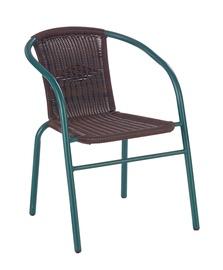Садовый стул Halmar Grand Dark Green/Brown