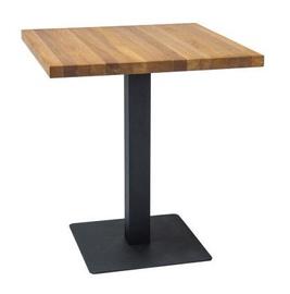 Обеденный стол Signal Meble Puro Oak/Black, 700x700x760 мм