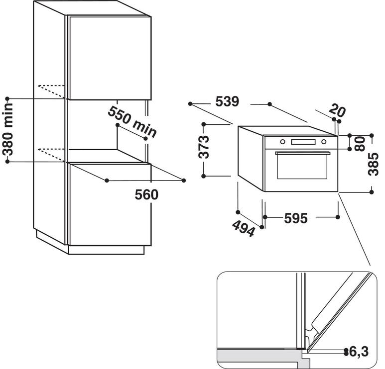 Integreeritav mikrolaineahi Whirlpool AMW730/SD
