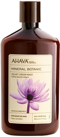 Крем для душа AHAVA Mineral Botanic Velvet Cream Wash Lotus & Chestnut, 500 мл