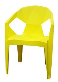 Садовый стул Besk Plastic Yellow, 54x40x80 см