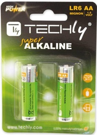 Techly Alkaline Batteries 2x AA