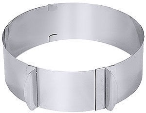 Contacto Adjustable Mousse Ring Baking Form H8cm