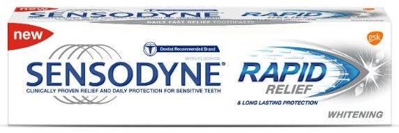 Sensodyne Rapid Relief Whitening Toothpaste 75ml