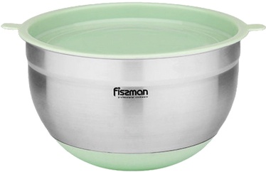 Fissman Mixing Bowl 20x12cm With Plastic Lid 3.0L Green Tea 5113