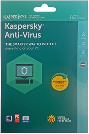 Kaspersky Antivirus Base 2018 1-PC 1Y