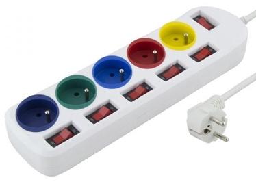 Esperanza Separate Switch Power Cord White 1.5 m