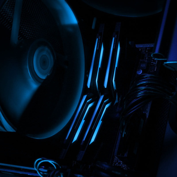Team Group T-Force Nighthawk Blue LED 32GB 3000MHz CL16 DDR4 KIT OF 2 THBD432G3000HC16CDC01