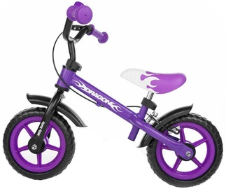 Milly Mally DRAGON Balance Bike With Brakes Violet 4782