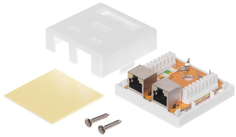 Netrack Complete Wall Outlet 2x RJ45 8p8c FTP cat. 6 LSA