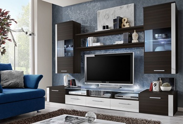 ASM Fresh Living Room Wall Unit Set Wenge/White