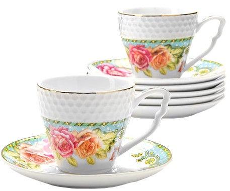 Mayer & Boch Coffee Set 6pcs Roses 9cl 25789