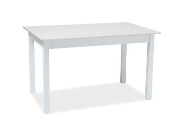 Обеденный стол Signal Meble Scandinavian Horacy, белый, 1000 - 1400x600x750мм