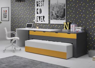 Lastevoodi Idzczak Meble Smart White/Grey/Yellow, 252x85 cm