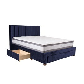 Home4you Grace Bed + Harmony Duo Mattress 160x200cm Blue